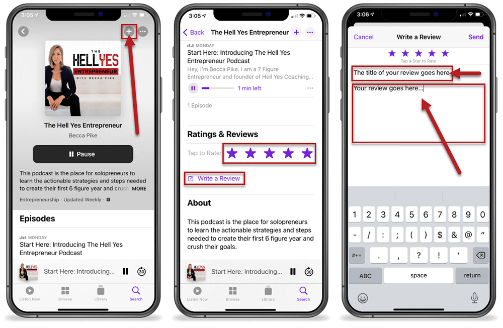 The Hell Yes Entrepreneur Podcast Rate Review